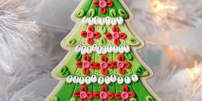 Новогоднее украшение из полимерной глины