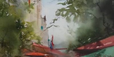 Акварельный мастер-класс Ильи Ибряева «Улицы Петербурга»
